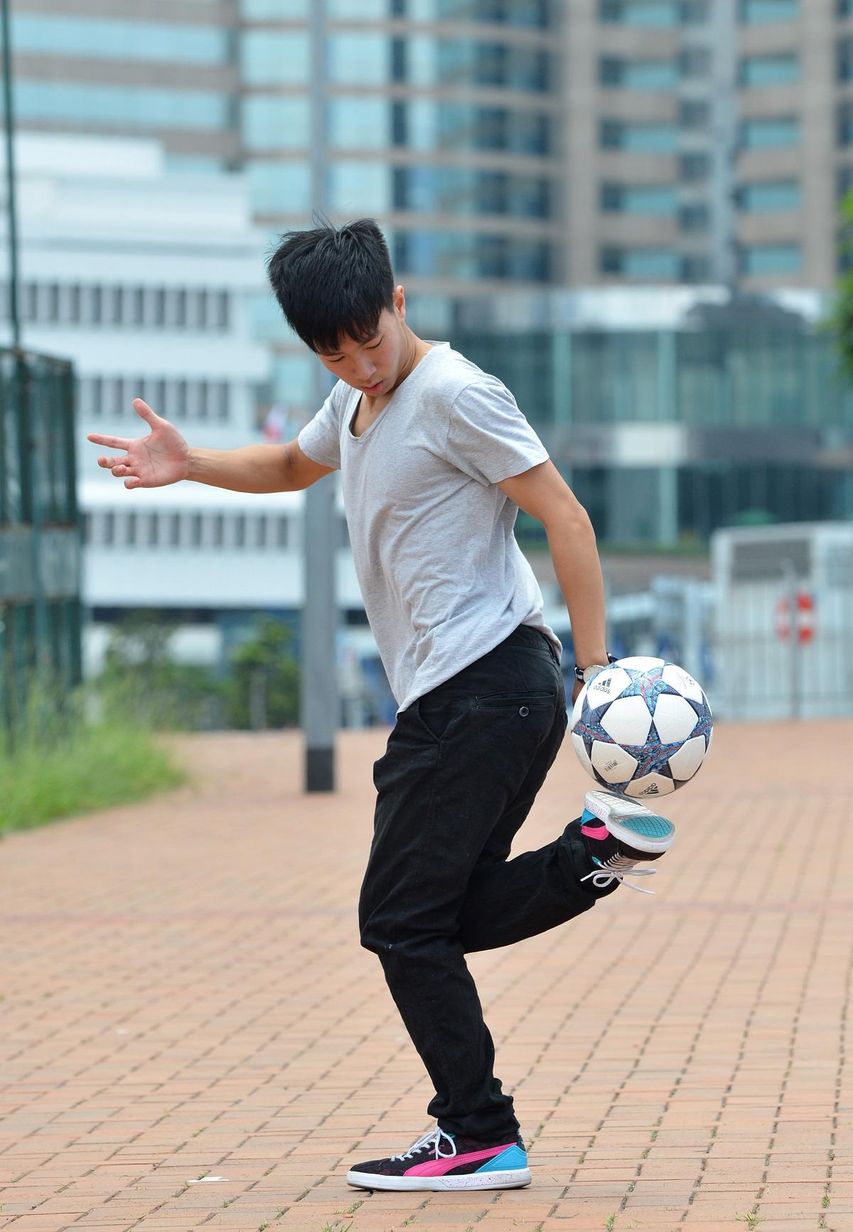 香港花式足球運動員黎俊賢。資料圖片