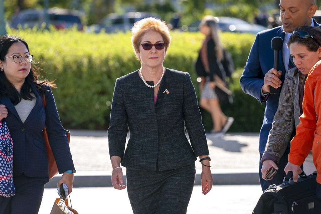 美國前任駐烏克蘭女大使約萬諾維奇。AP