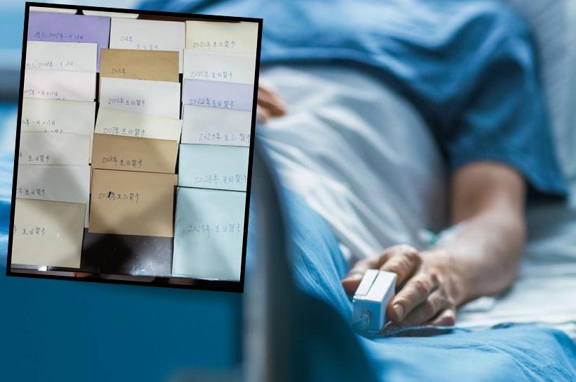 樓主表示,丈夫病重時仍然心念著年幼的女兒,擔心自己病逝沒法見證女兒成長,因此寫下19封信。網圖/示意圖