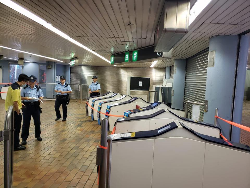 警方到場調查。香港警察圖片