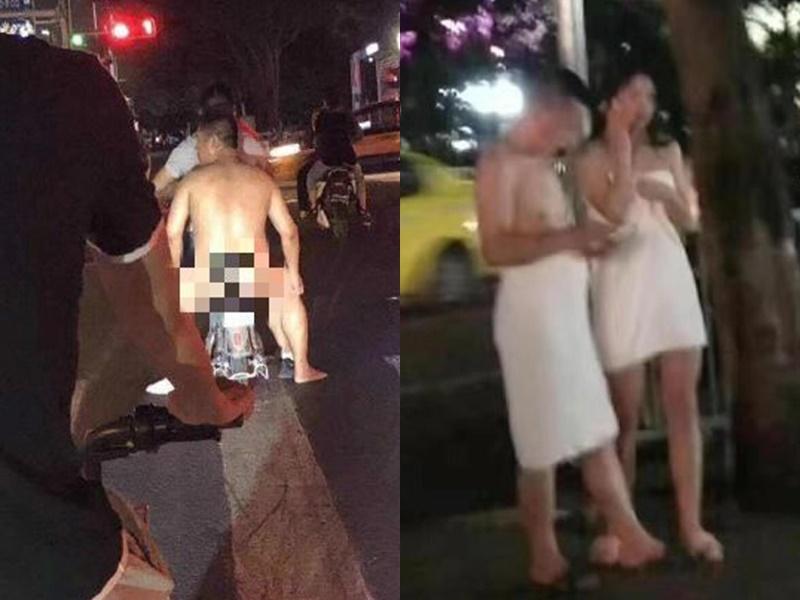 有女子包著棉被逃走。網上圖片