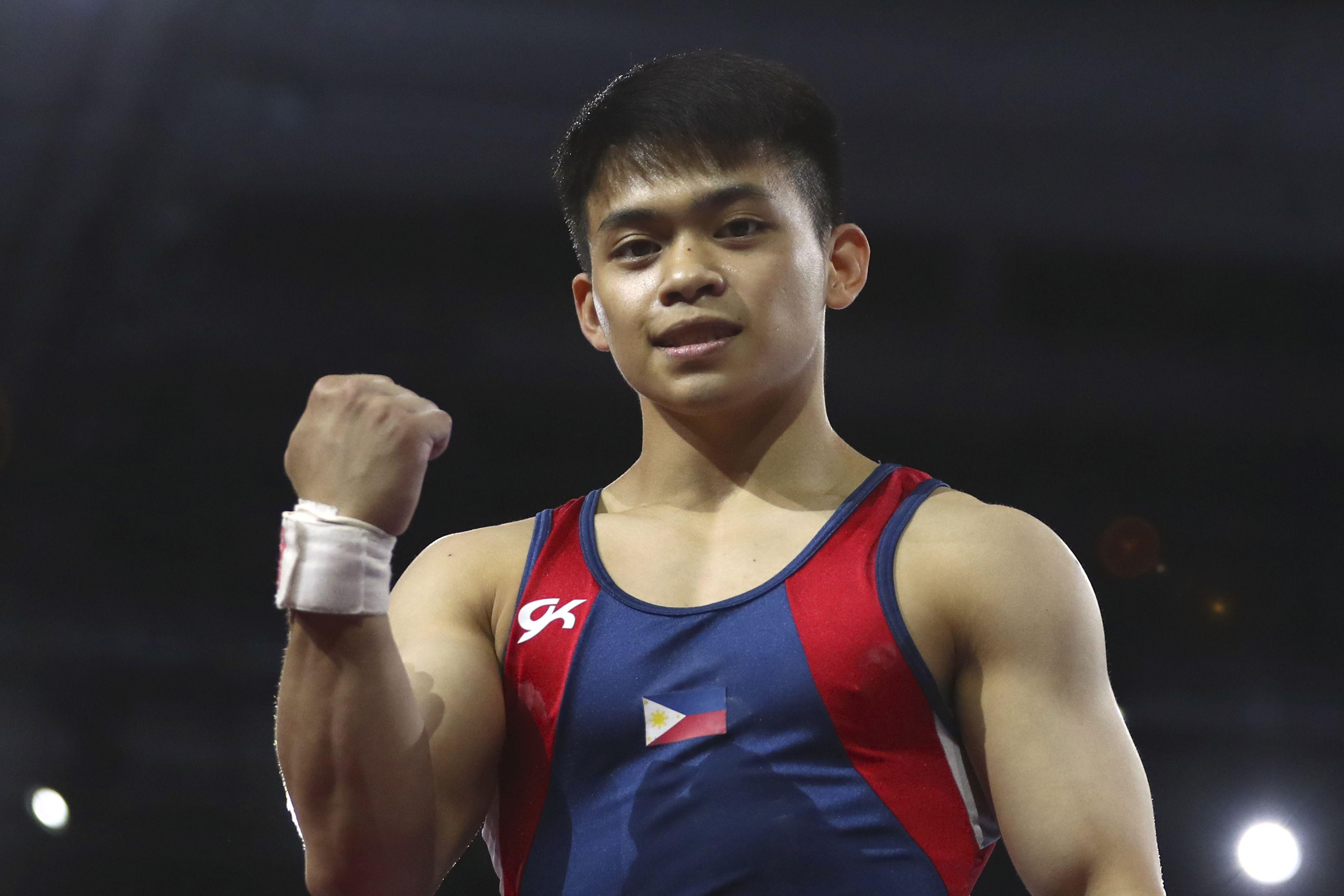 菲律賓新星尤洛於男子自由體操奪金,為國寫下歷史。AP