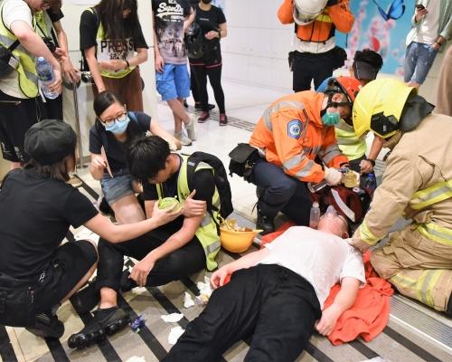 【修例風波】醫管局:截至晚上11時共36人送院 3人嚴重