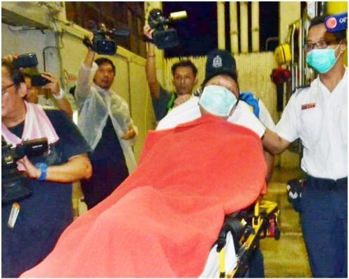 【修例風波】旺角警署外中布袋彈 now車長扣查兩小時後獲釋送院