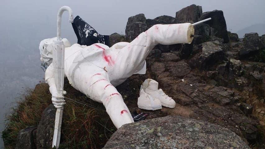 有網民發現「香港民主女神像」已被拆。 網圖