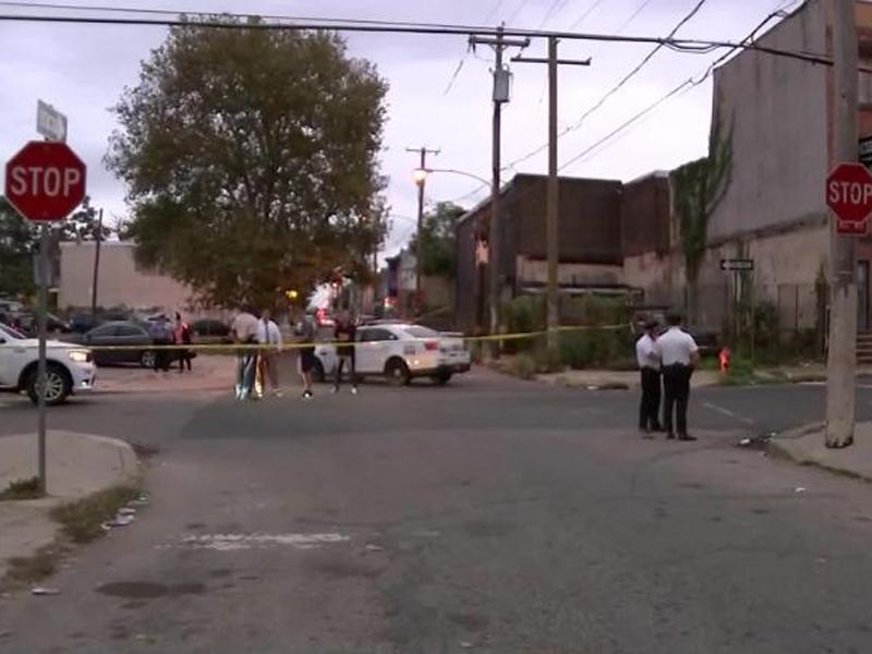 美國費城發生槍擊案,6人受傷,暫無人被逮捕。(電視截圖)
