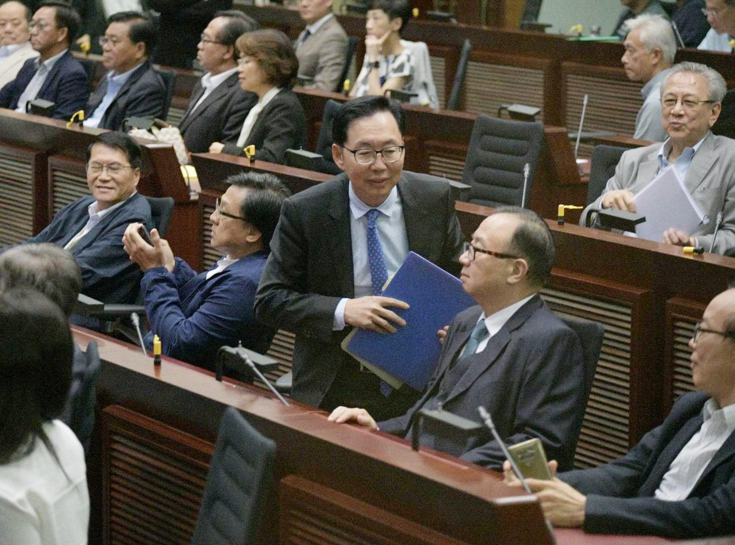 【修例風波】陳健波當選立會財委會主席 冀立法會能有規矩做事令香港重回正軌