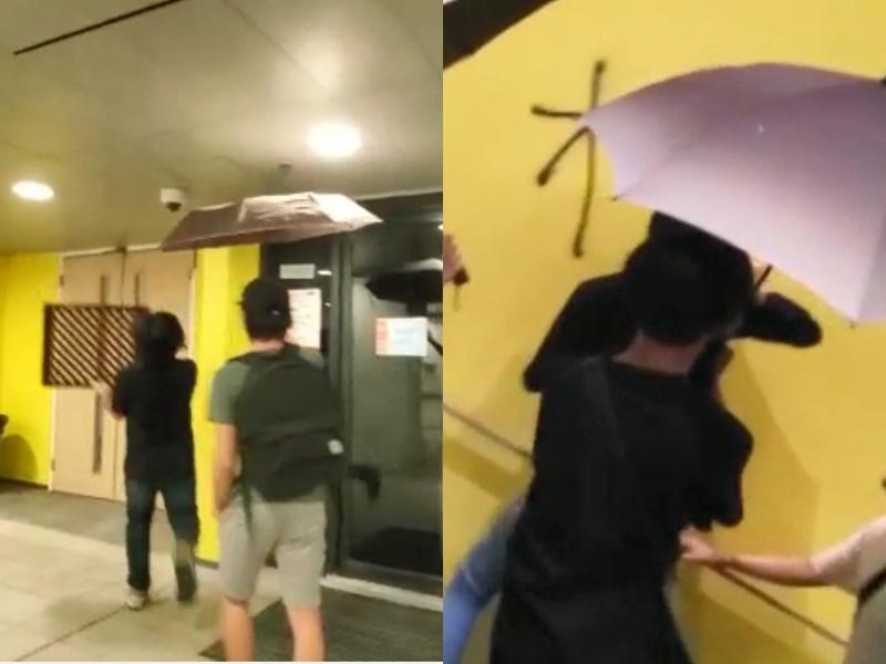 【修例風波】不滿閉路電視疑遭剪輯 知專學生破壞校園設施