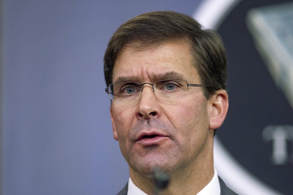 美國國防部長埃斯珀:會配合眾院彈劾調查。AP