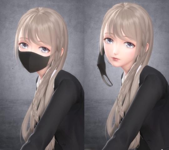 換裝手遊「脫口罩」惹議,官方表示維護和諧。網圖