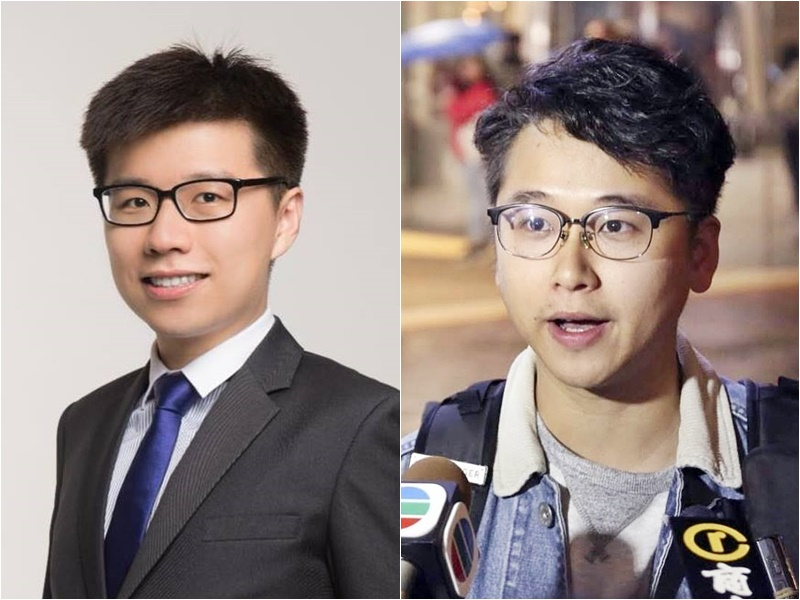 陳兆陽(左)及巫啟航(右)。FB圖片
