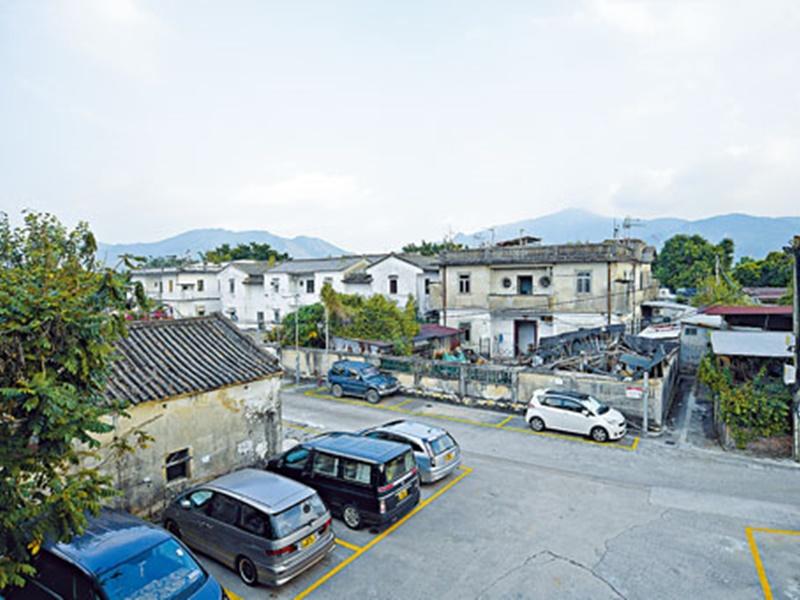 當局計畫未來在錦田南作大規模發展,涉及一百七十三萬方呎,圖為吳家村一帶環境。