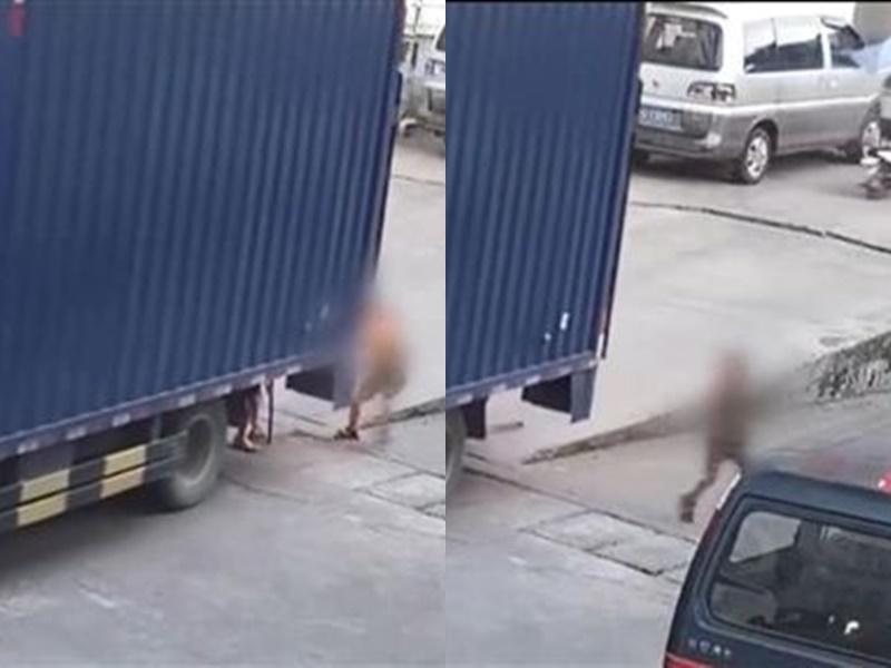 貨車倒車陷盲點,男童遭捲入車底輾壓亡。網上圖片