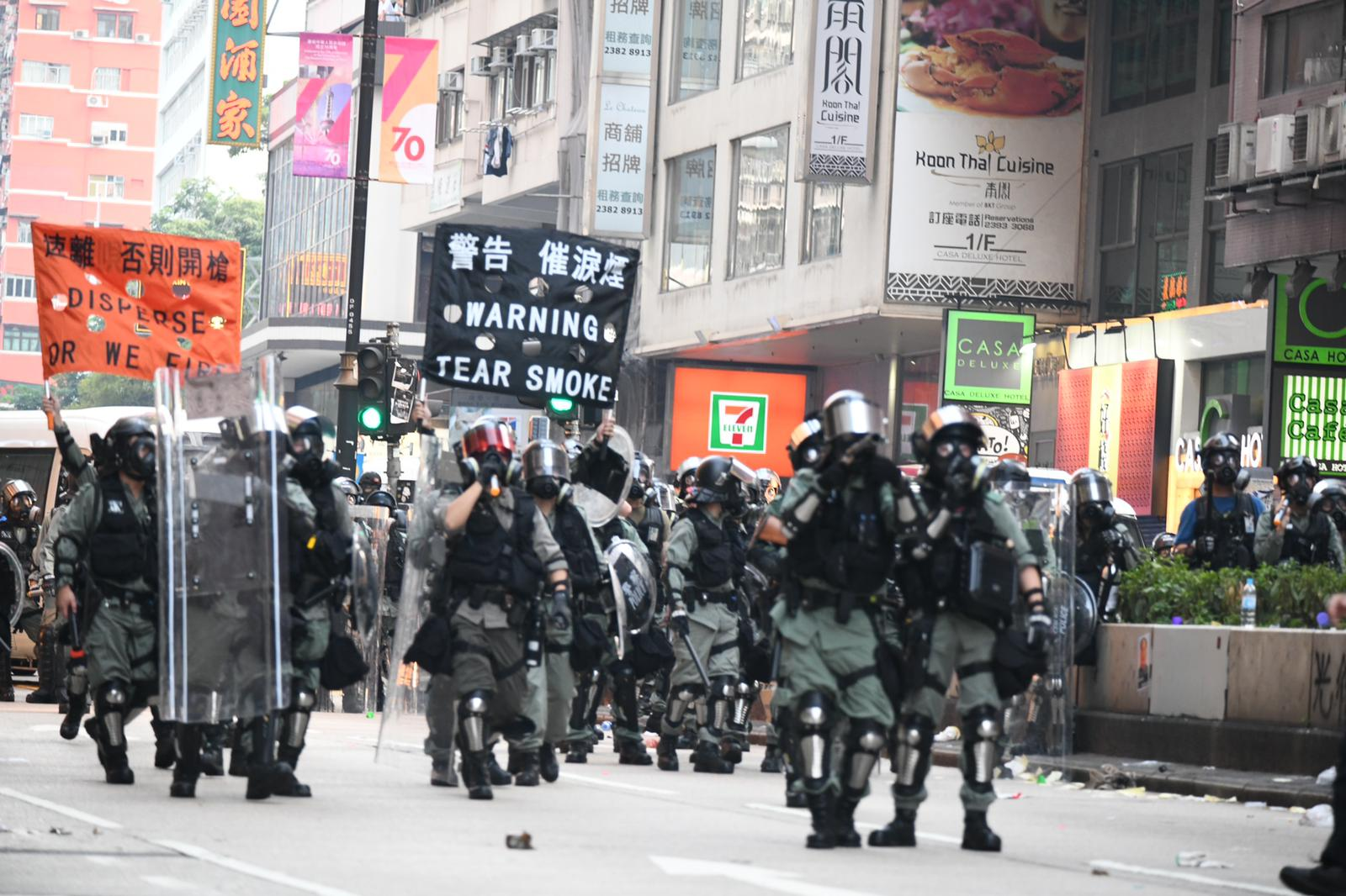 林志偉不滿警隊站在最前線與暴徒周旋,政府沒有任何強而有力的措施和支援配合工作。資料圖片