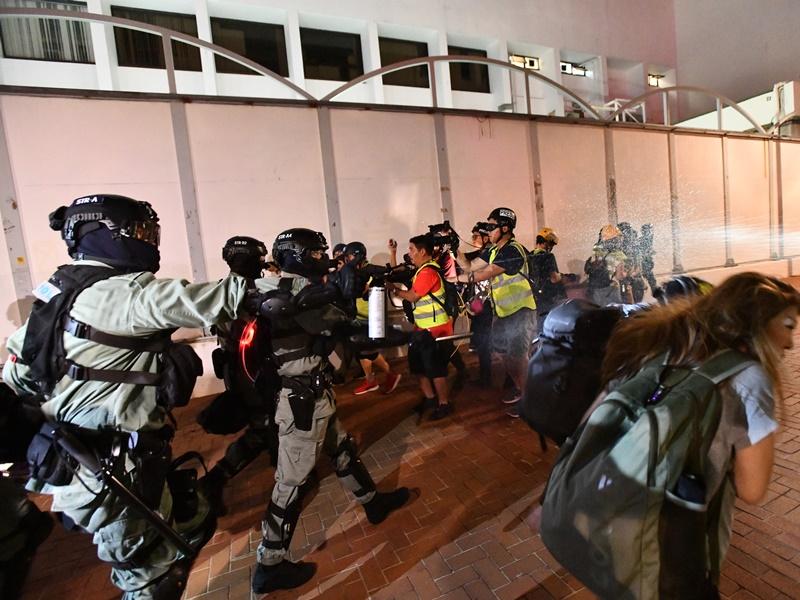 中律協批評示威衝突中暴力升級。資料圖片