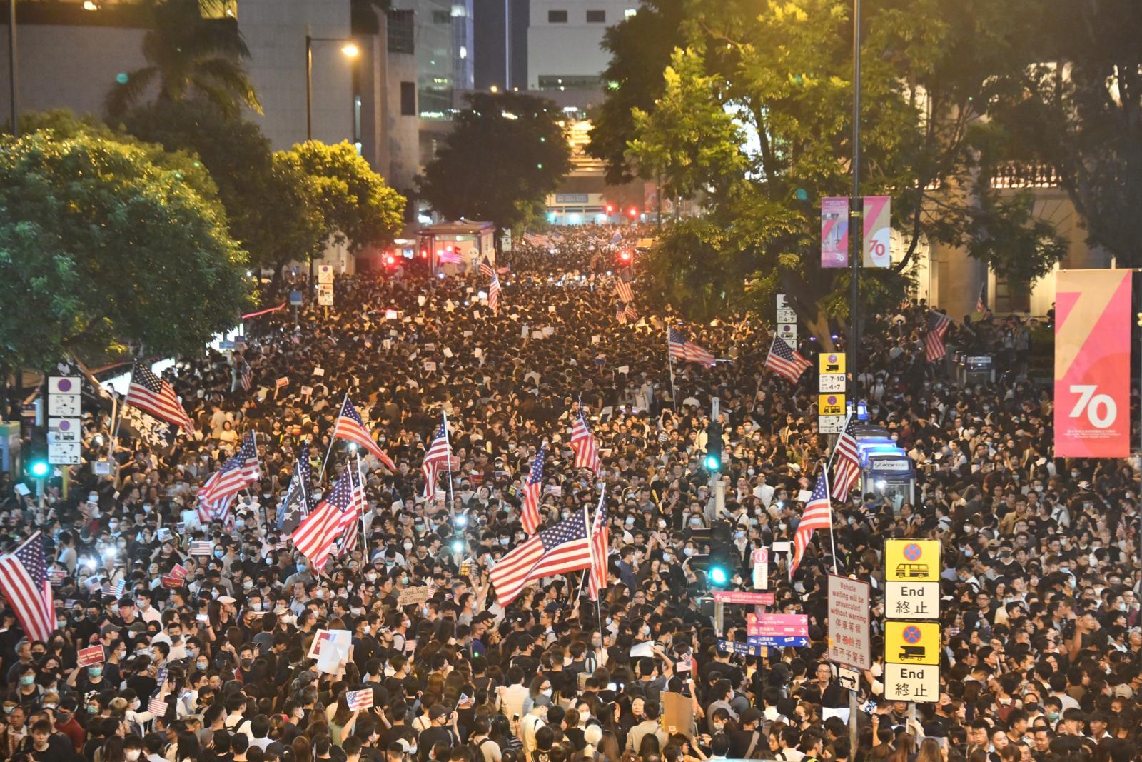 新版本香港法案制裁較最初版本更嚴厲。資料圖片