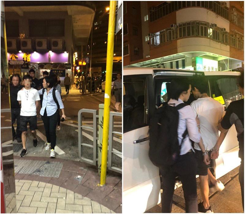 多人被帶上警車。網民圖片