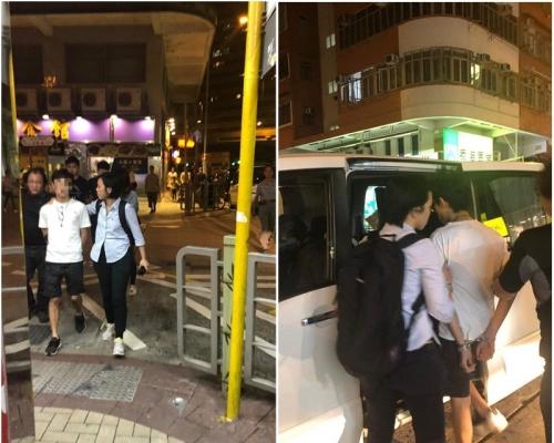 【修例風波】警方大角嘴拘捕2名男子 單位檢出懷疑爆炸品