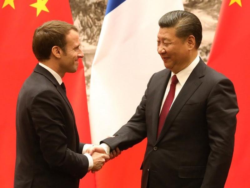 習近平應約同法國總統馬克龍通電話。(資料圖片)
