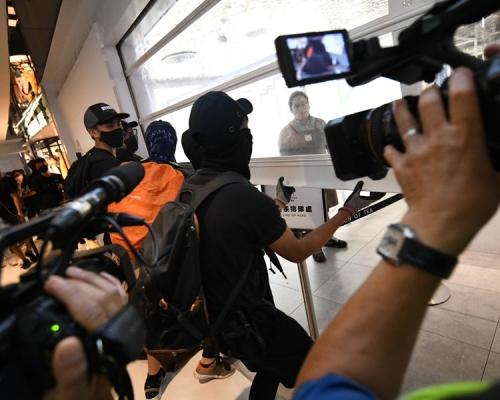 林鄭斥暴徒令香港陷入混亂。資料圖片
