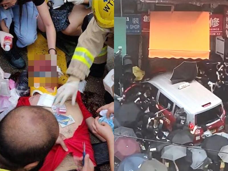 的士司機當日撞傷多人後被「私了」。資料圖片
