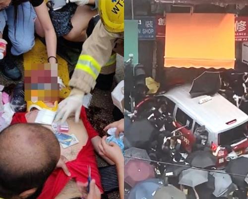 【修例風波】深水埗的哥撞人群被「私了」公司經理被控暴動提堂