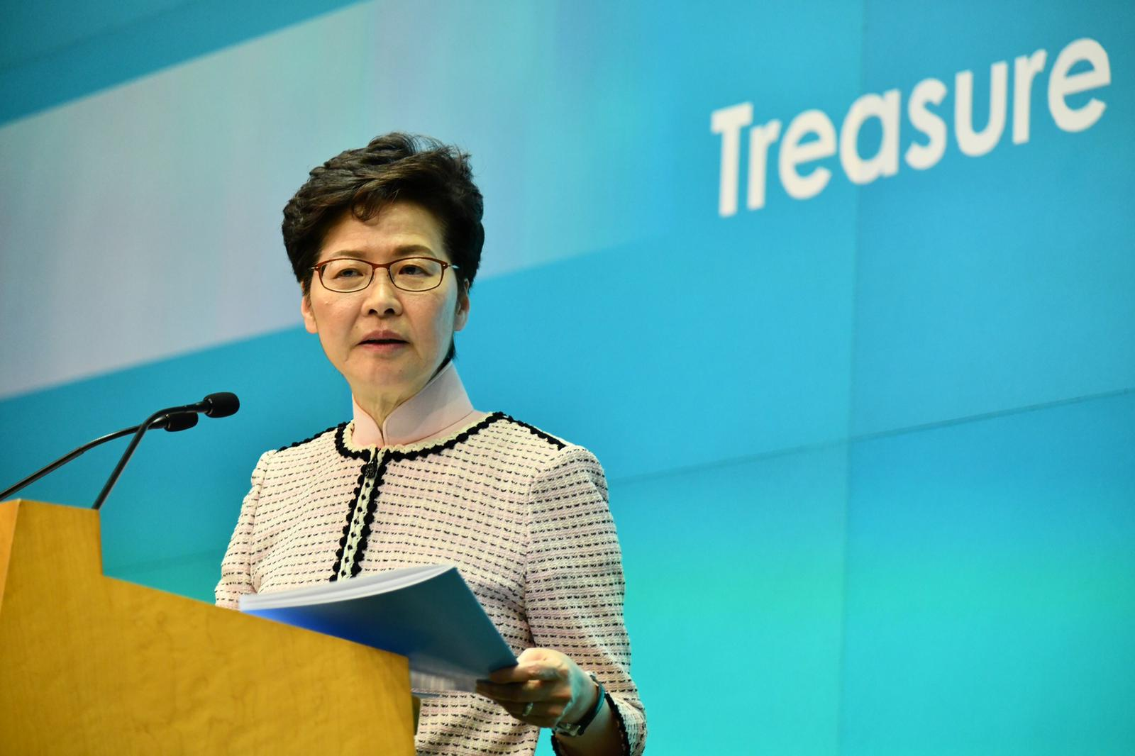林鄭月娥提醒經濟會進入逆轉,政府收入一定會下降