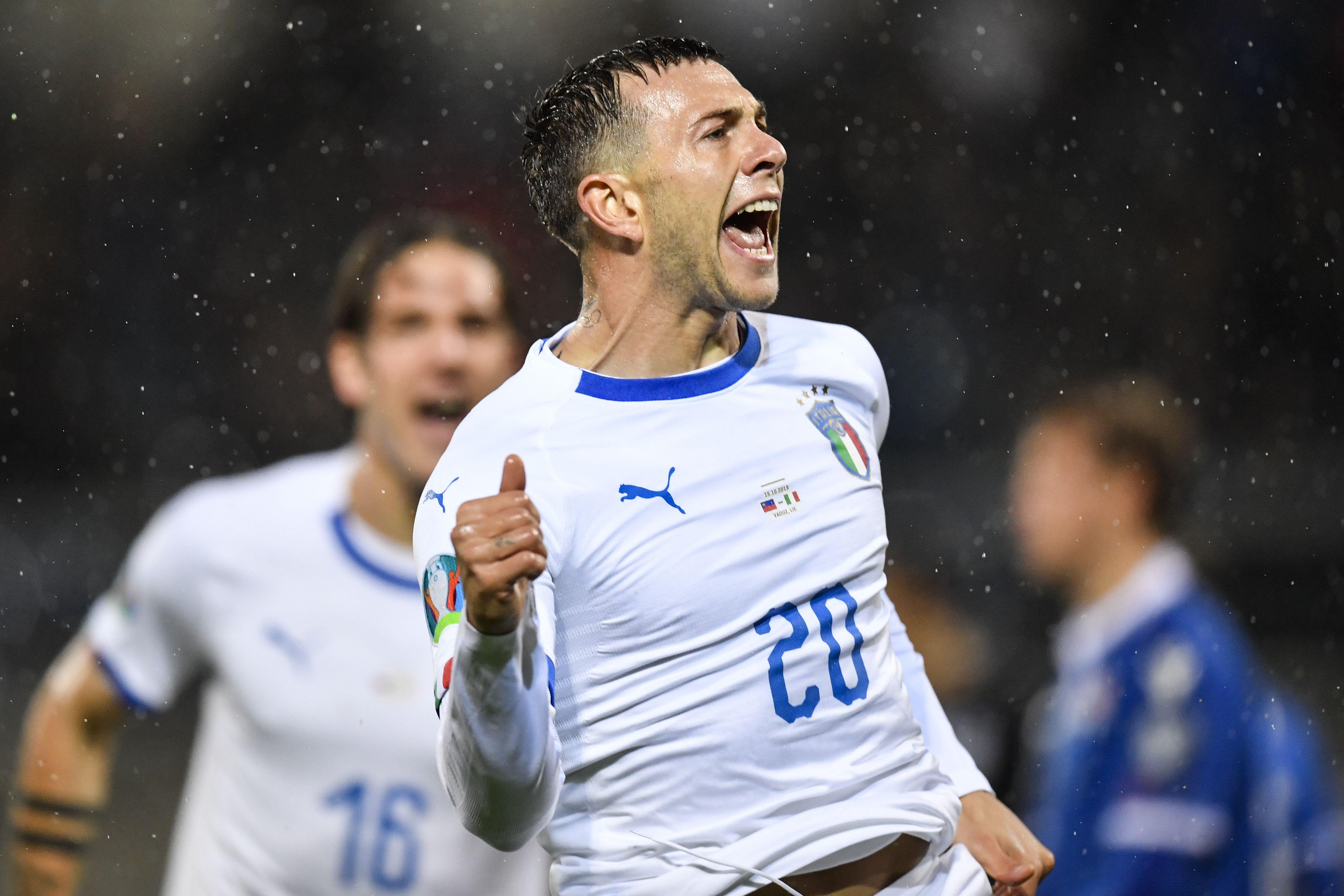 意大利翼鋒貝拿迪斯治替球隊先開紀錄。AP