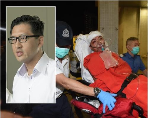 林卓廷譴責兇徒襲擊岑子杰 批警方無力或無意保護民主派