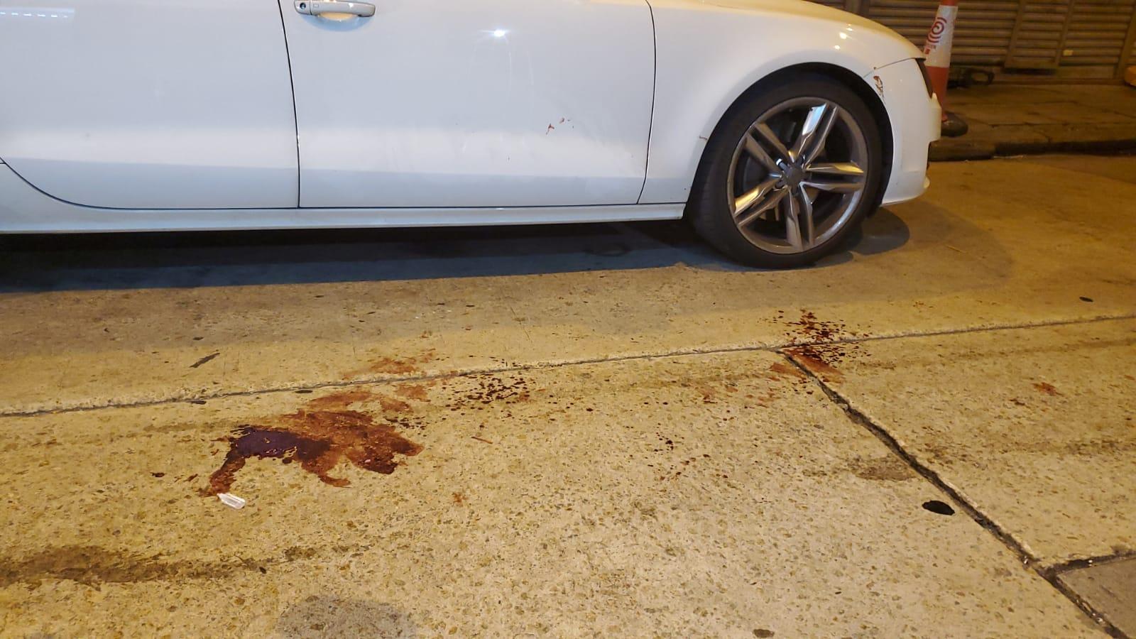 現場留有血跡。