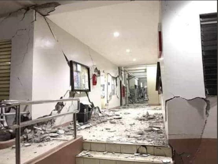 有建築物損毀。網上圖片