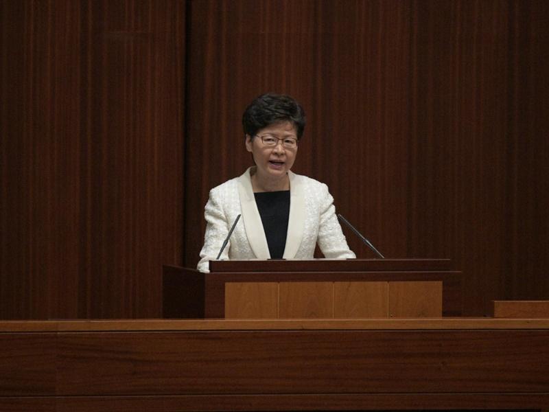 林鄭月娥今年的施政報告評分僅29.7。