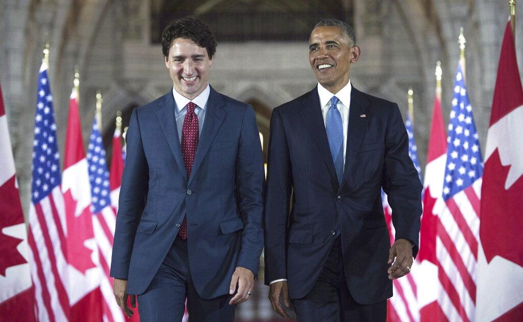 奧巴馬表態支持杜魯多連任,形容其是有效率的領袖 。AP