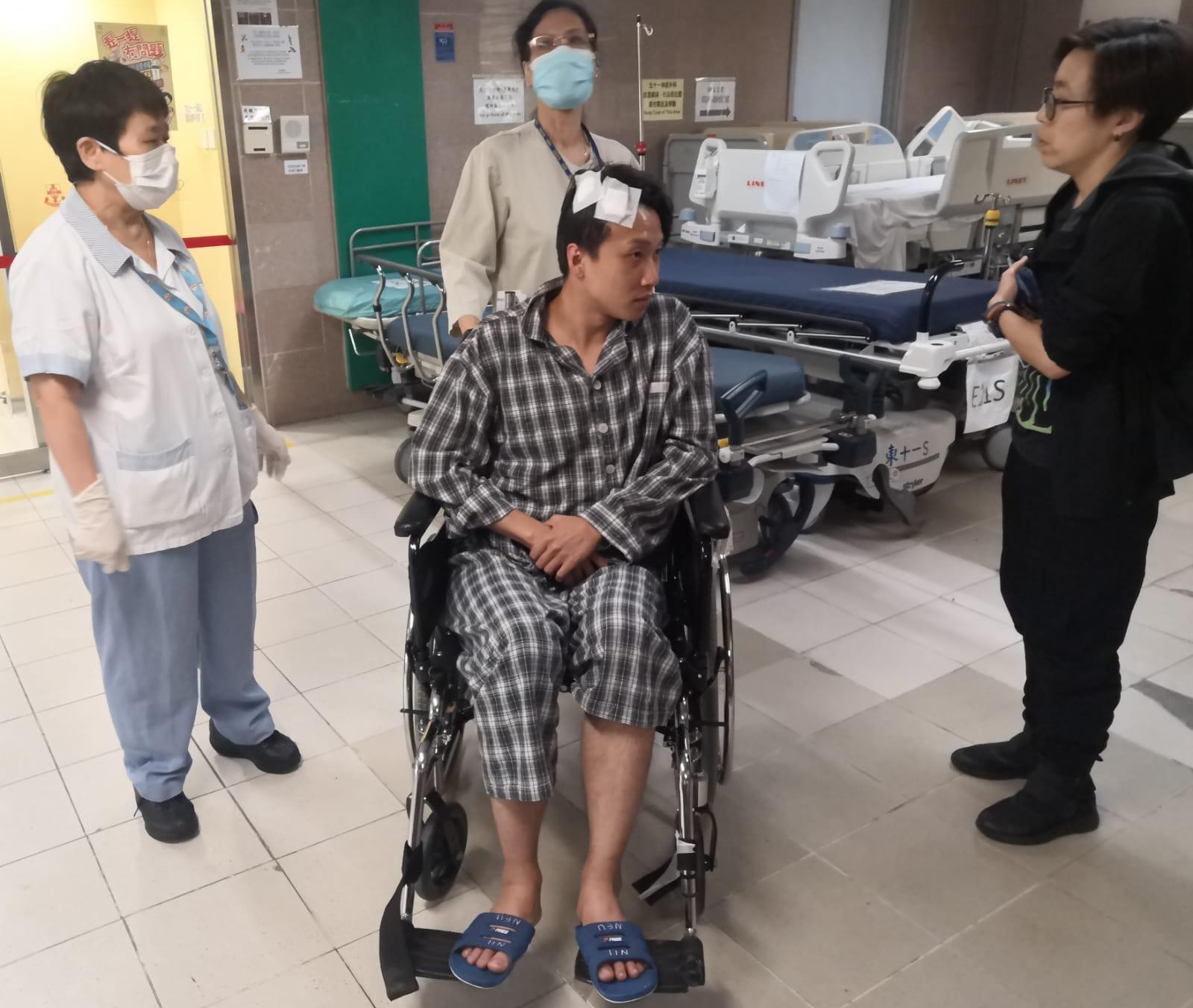 岑子杰仍然留醫。