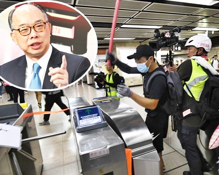 陳帆(小圖)呼籲市民愛護鐵路設施。