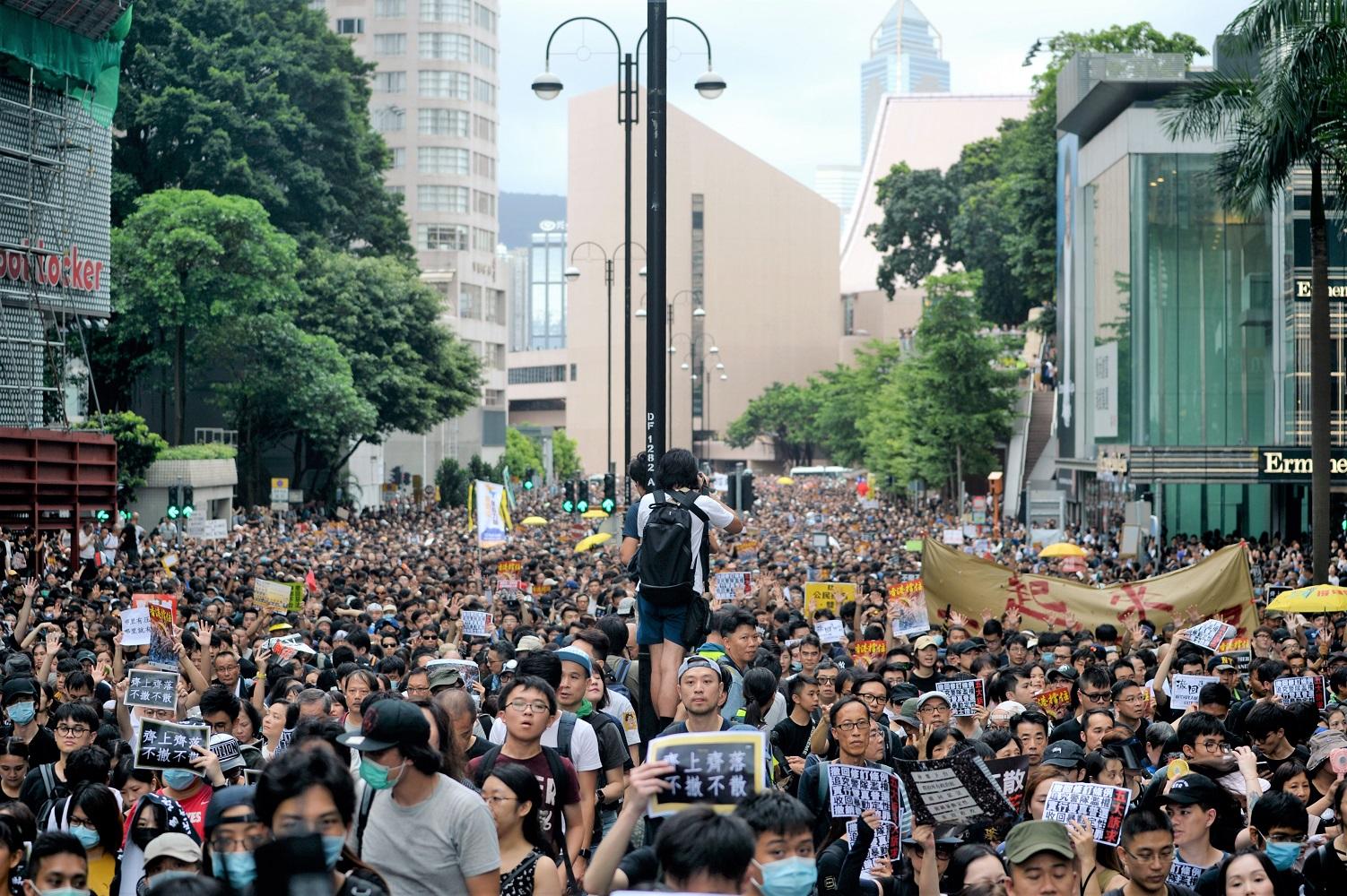 民陣發起周日九龍遊行,警方發反對通知書。資料圖片