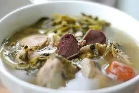 西洋菜蜜棗鮮陳腎煲豬脊骨湯。網上圖片