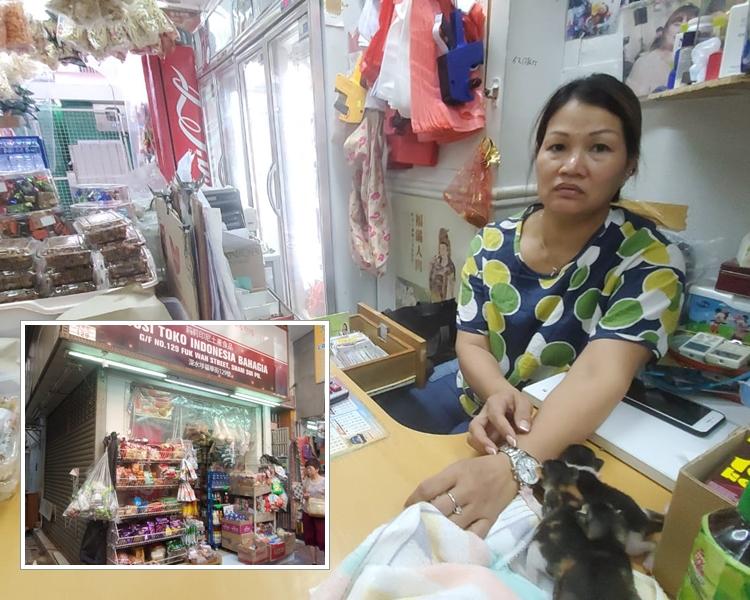 賊人爆竊印尼雜貨店。林思明攝
