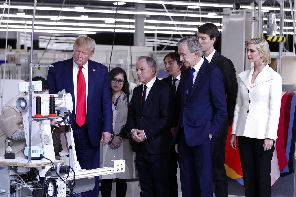 特朗普參觀LV德州生產線。AP