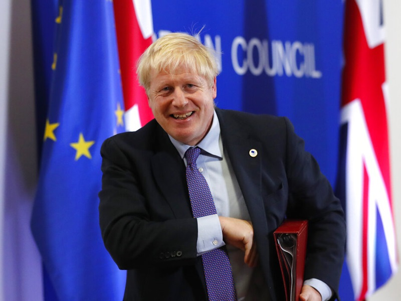 歐盟領袖一致支持新脫歐協議,約翰遜有信心國會能通過。AP