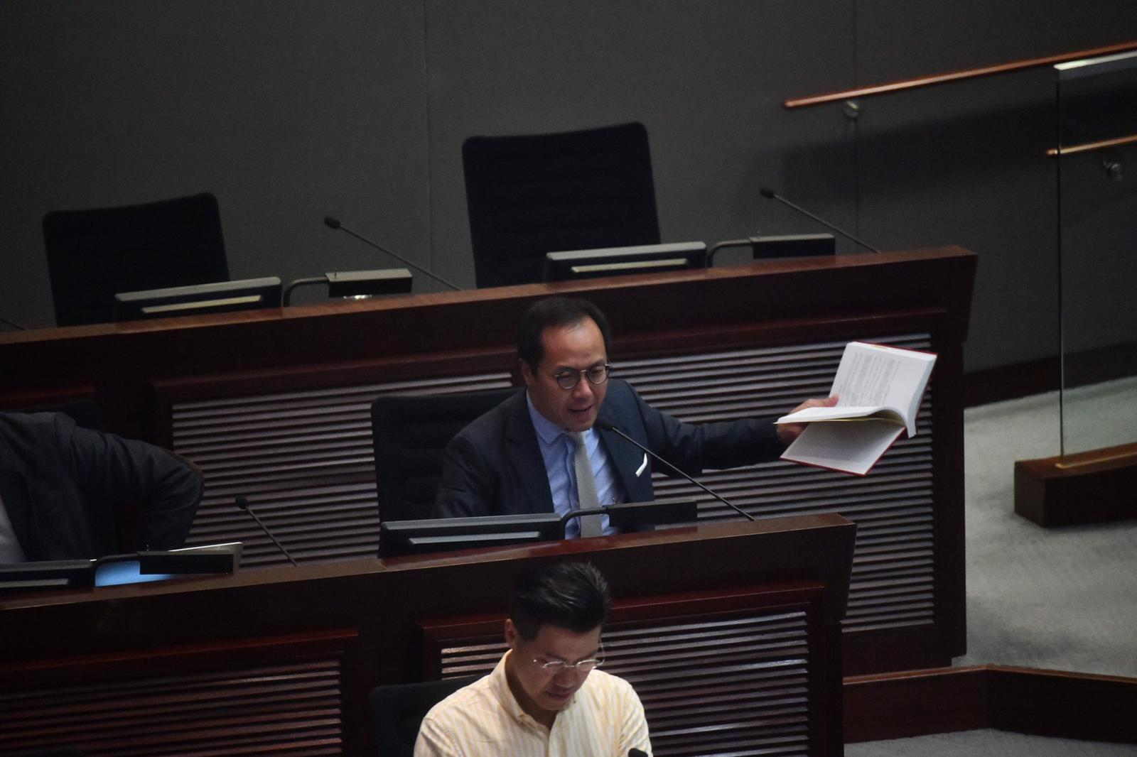 立法會內會舉行第二次會議 仍未能選出主席
