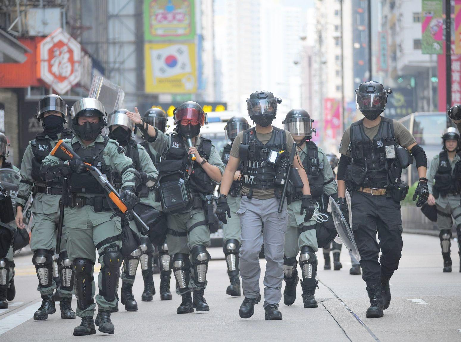 不少警員及其家人被「起底」。資料圖片