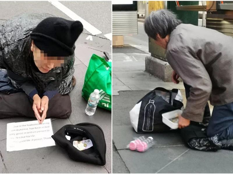 中国职业乞丐惊现澳洲墨尔本街头,警方斥:利用市民善心行骗。网图