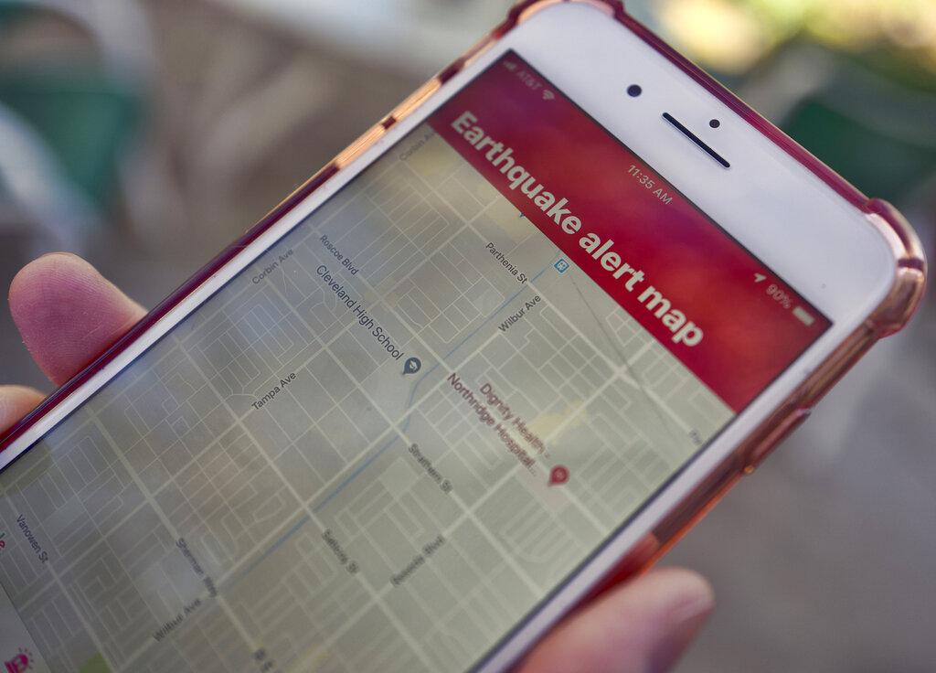 加州推地震預警App,提前10到20秒收到警報。AP