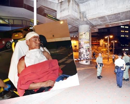 中年漢藍田撕連儂牆 遭3男以「鐵蓮花」打穿頭