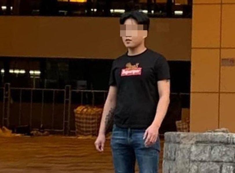 懷疑傷人的男子。網民Angel Ka Yan Chan圖片