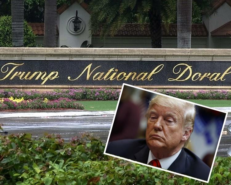 白宮早前宣布在特朗普旗下高球度假村主辦明年G7峰會備受爭議。AP