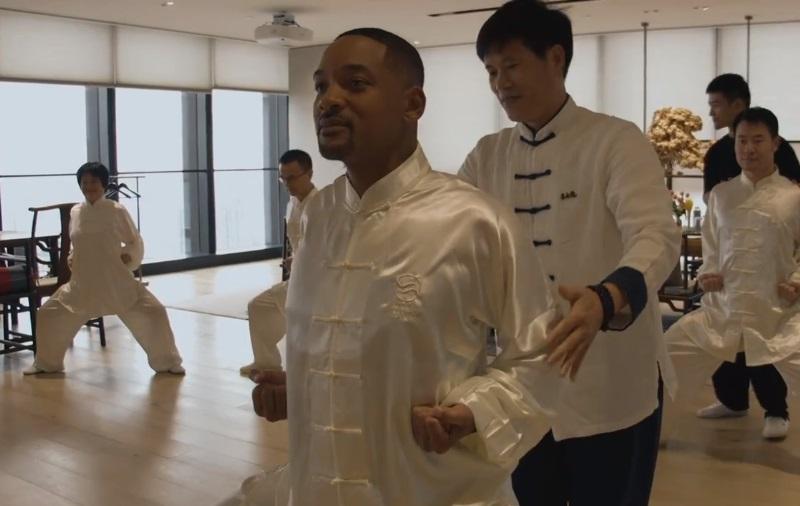 韋史密夫日前到上海宣傳電影。 微博圖片