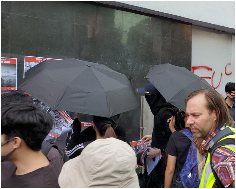 九龍中央郵政局遭示威者破壞。
