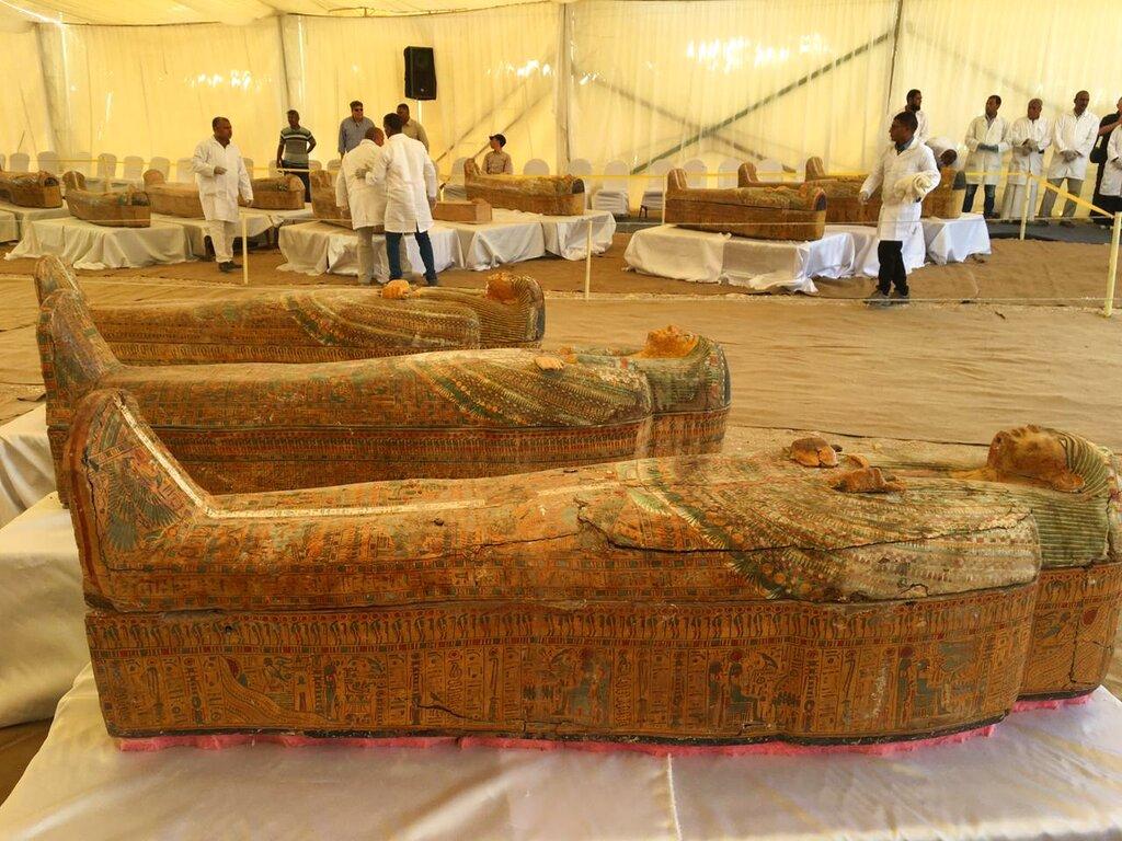 古埃及30木棺出土,有3千年歷史保存完好。AP